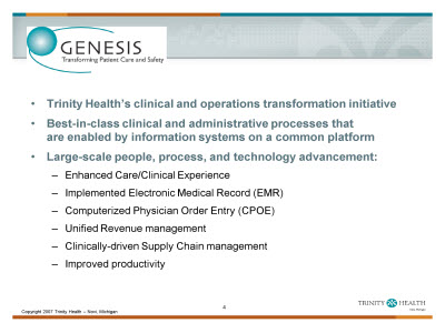 Slide 4. About Trinity Health Clinic