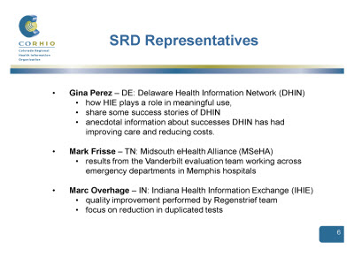 Slide 6. SRD Representatives