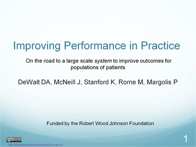 Slide 1. Improving Performance in Practice