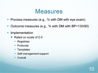 Slide 10. Measures
