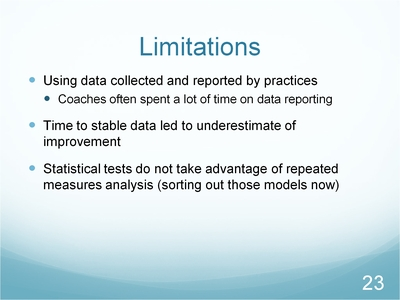 Slide 23. Limitations