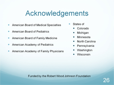Slide 26. Acknowledgements