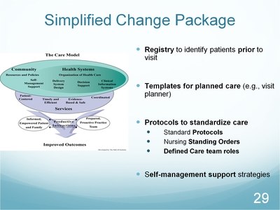 Slide 29. Simplified Change Package