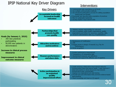 Slide 30. IPIP National Key Driver Diagram