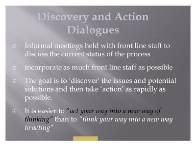 Slide 18. Discovery and Action Dialogues