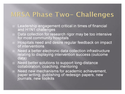 Slide 20. MRSA Phase Two - Challenges