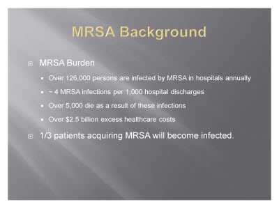 Slide 5. MRSA Background