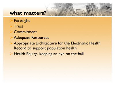 Slide 20. What matters?
