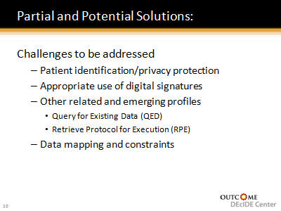 Slide 11. Partial and Potential Solutions: