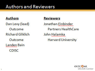 Slide 2. Authors and Reviewers