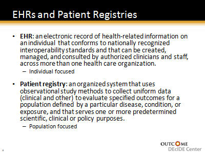 Slide 5. EHRs and Patient Registries