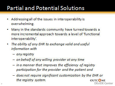 Slide 8. Partial and Potential Solutions