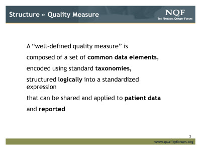 Slide 3. Structure » Quality Measure