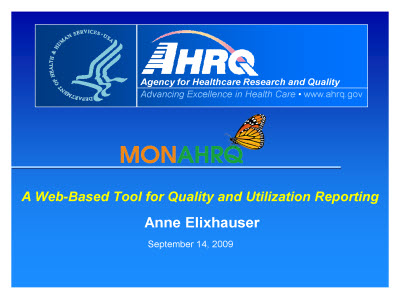 Slide 1. A Web-Based Tool for Quality and Utilization Reporting
