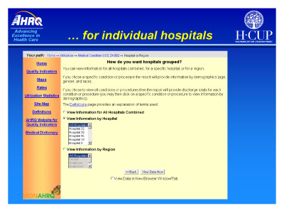Slide 24. . . . for individual hospitals