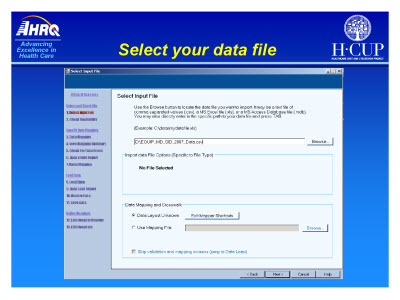 Slide 29. Select your data file