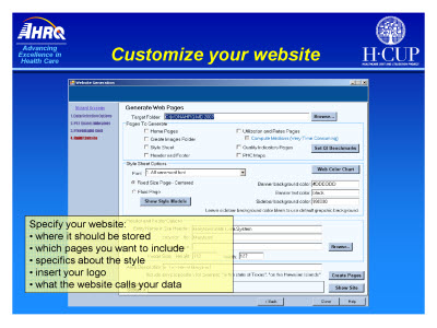 Slide 38. Customize your website