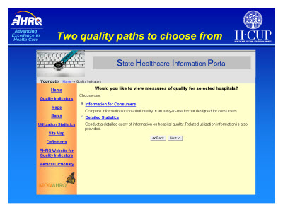 Slide 7. Two quality paths to choose from