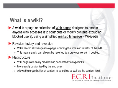 Slide 2. What is a wiki?