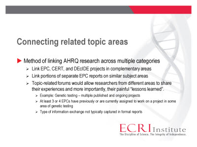 Slide 6. Connecting related topic areas