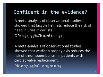 Slide  29. Confident in the evidence?