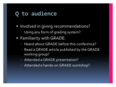 Slide  4. Q to audience