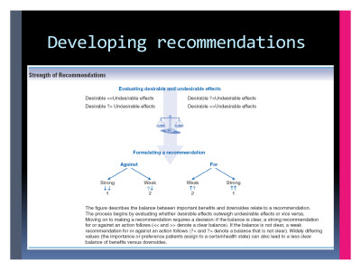 Slide  57. Developing recommendations