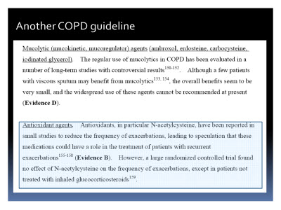 Slide  63. Another COPD guideline
