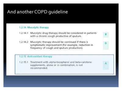 Slide  64. And another COPD guideline