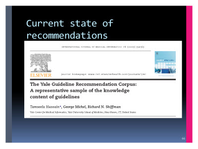 Slide  66. Current state of recommendations