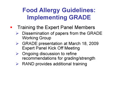 Slide 5. Food Allergy Guidelines: Implementing GRADE