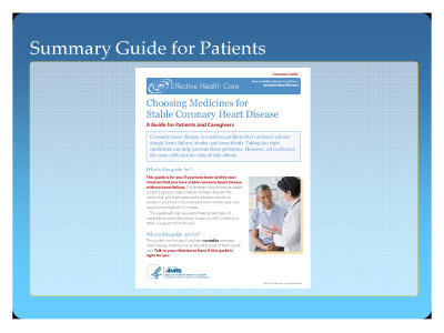 Slide 11. Summary Guide for Patients