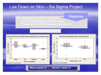 Slide 8. Low Down on Skin - Six Sigma Project