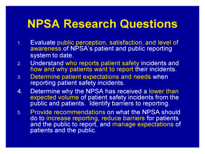 Slide 11. NPSA Research Questions