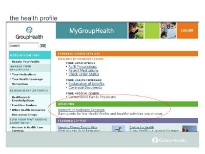 Slide 10. the health profile
