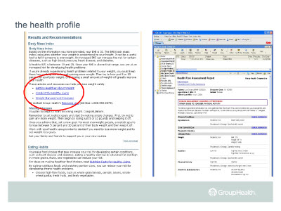 Slide 11. the health profile