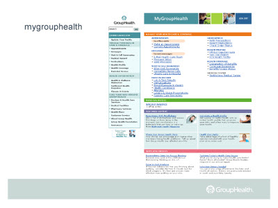 Slide 3. mygrouphealth