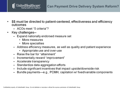 Slide 7. Can Payment Drive Delivery System Reform?