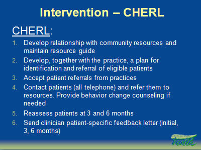 Slide 11. Intervention-CHERL