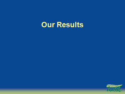 Slide 12. Our Results