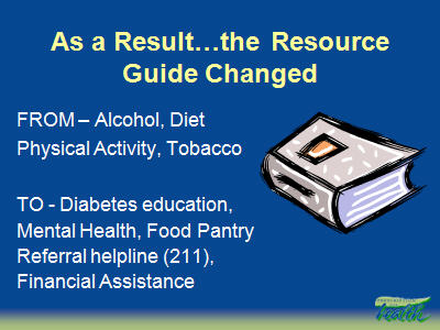 Slide 31. As a Result. . ..the Resource Guide Changed
