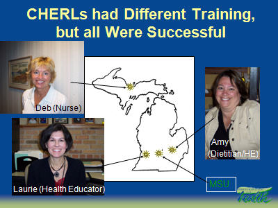 Slide 34. CHERLs had Different Training, but all Were Successful