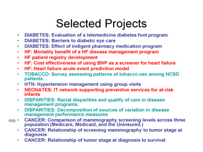 Slide 20. Selected Projects