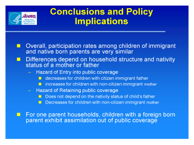 Slide 19. Conclusions and Policy Implications