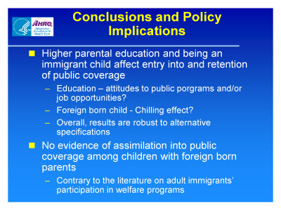 Slide 20. Conclusions and Policy Implications