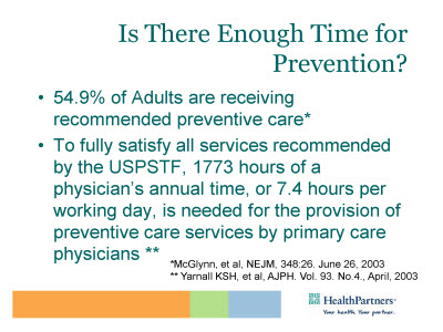 Slide 2. Is There Enough Time for Prevention?