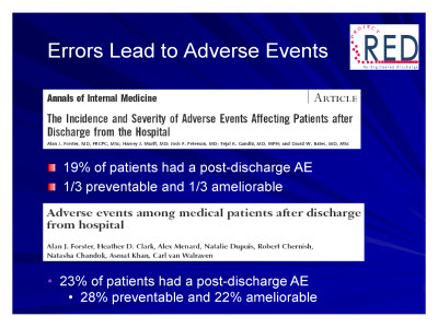 Slide 11. Errors Lead to Adverse Events