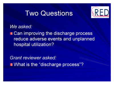 Slide 15. Two Questions