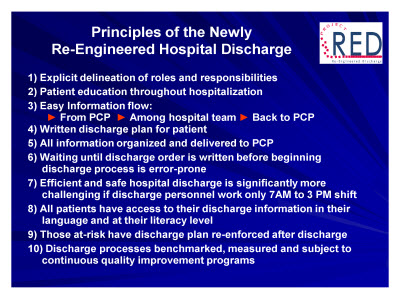 Slide 20. Principles of the Newly Re-Engineered Hospital Discharge