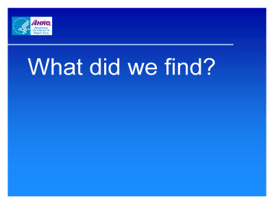 Slide 31. What did we find?